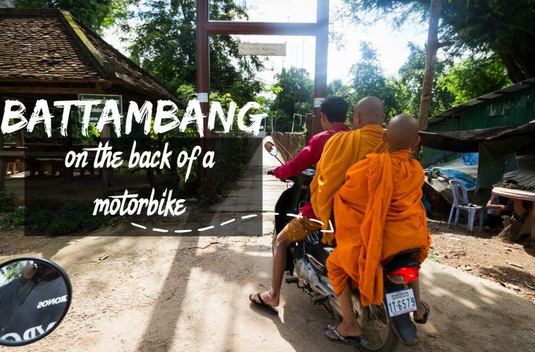 The best way to tour Battambang, Cambodia is to do it via the back of a motorbike