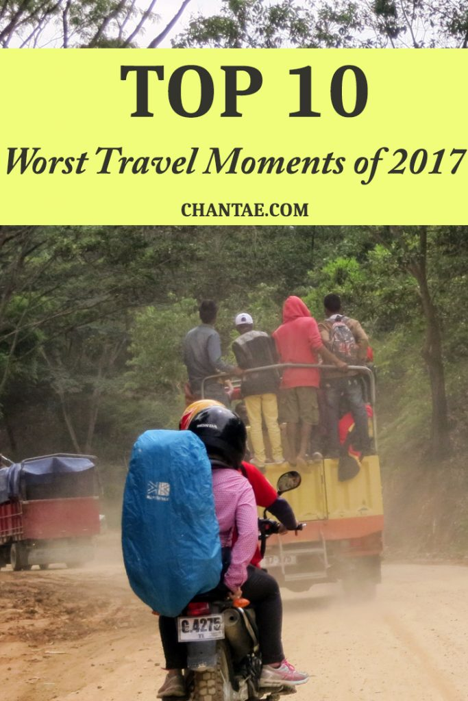 The worst travel moments I experienced in 2017 including infections, creepy people, and more