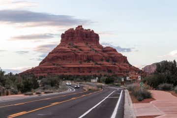 Bells Rock in Sedona from Highway